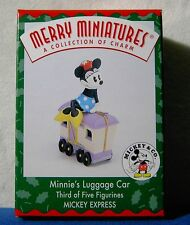 1998 Hallmark Minnie's Luggage Car Mickey Express Merry Miniatures Disney