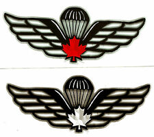 Canadian Parachute Wing Facsimile Design Decal Pair.