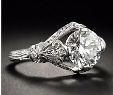 1.92 Ct  Edwardian/Antique Style Genuine Natural Diamond Engagement Ring VS2 F