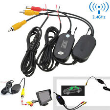 2.4G Wireless Rear View Video Transmitter Receiver for Reversing Backup Camera