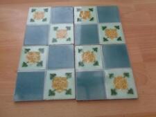 Conjunto de 4 Antiguo azulejos de cerámica