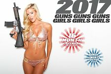 2017 GUNS AND GIRLS CALENDAR ar15 ak47 uzi 1911 sig sauer S&W ar10 ruger glock