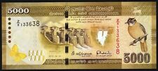 SRI LANKA CEYLON 2015 5000 RS PICK NEW REPLACEMENT Z UNC