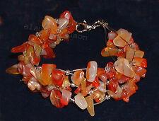 Amber carnelian bracelet cornaline cornelian Karneol Armband pulsera cornalina