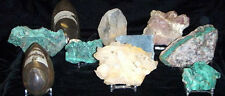 Dynamic Acrylic Display Stand Slabs Geodes Fossils Minerals Specimens Rocks 5ct
