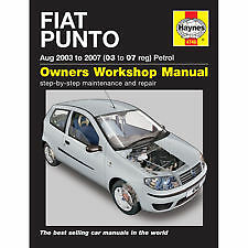 New Haynes Manual Fiat Punto Petrol 03-07 Car Workshop Repair Book 4746