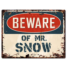 PBMR0687 Beware of MR. SNOW Chic Plate Sign Home Decor Funny Gift Ideas