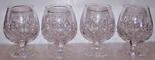 Lovely Signed WATERFORD Crystal LISMORE Set of 4 BALLOON BRANDY SNIFTER GLASSES