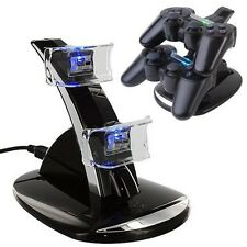 Hot Dual USB Charger Dock Station Stand For PS3 Wireless Bluetooth Controller