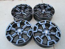 "20"" NISSAN TITAN FACTORY 2016 2017 WHEELS RIMS TAKE OFFS BLACK"