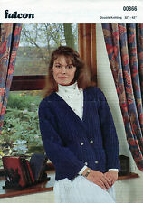 ~ Falcon Knitting Pattern For Lady's Double Breasted Rib Jacket To Knit ~