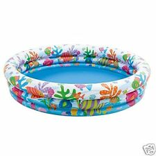 Piscina HinchableTres Aros Peces de Colores Intex Medidas: 132 x 28 cm 204