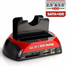 "2.5"" 3.5""IDE SATA HDD Hard Drive Disk All In 1 Clone Holder Dock Docking Station"