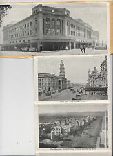 Stamp 1d queen mum on 17 view postcard fold out type of Adelaide South Australia