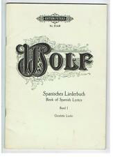 HUGO WOLF for Piano with Lyrics - SPANISCHES LIEDERBUCH - Books 1&2 -Softcover