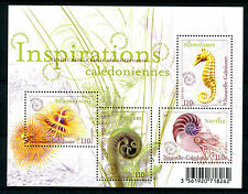 New Caledonia 2016 MNH Inspirations Spirals Seahorses Ferns 4v M/S Stamps