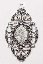 4 of 25x18 mm Antique Silver Old Style Large Victorian Art Deco Pendant Settings