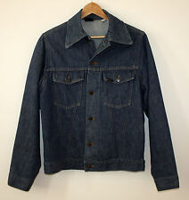 Sears Rooebuck Vintage Selvedge Indigo Denim Jacket 12 Gauge Jean Sz 38 Trucker