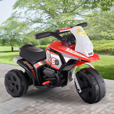 Kids Ride On Motorcycle Battery Powered 3 Wheel Bicycle Electric Toy New Red