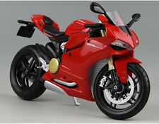 Red Ducati 1199 Panigale Racing Moto Diecast Motorcycles 1:12 Scale MAISTO Model