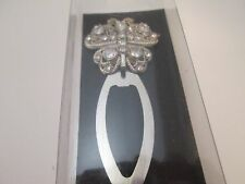 Butterfly Bookmark Silver Metal With Rhinestones New In Box