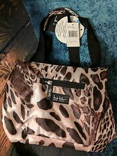 "NICOLE MILLER Wild Cat Brown  INSULATED LUNCH HAND TOTE BAG COOLER 11""  NWT"