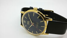 vintage hmt sona gold plated hand winding men's super slim india watch run -bk23