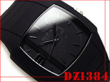 DIESEL MEN'S COLLECTION BLACK COLOR RUBBER BAND WATCH DZ1384