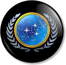 "Star Trek United Federation of Planets 1"" 25mm Pin Button Badge Crest Logo Icon"