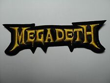 MEGADETH SHAPED LOGO      EMBROIDERED  PATCH