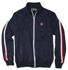 Boast USA Tennis Track Zip Jacket Navy Blue Piped Bjorn BJ Borg Men's Med NWT