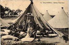 CPA Militaire, Camp de Chalons - Interieur d'Une Tente (361852)