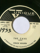 """EXOTICA AUTOHARP PROMO 45/ CHUCK HOLDEN """"THE CAVE""""   VERY CLEAN   HEAR"""