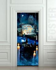 Door Wall / Fridge STICKER harry potter hogwarts decole decal mural poster 30x79
