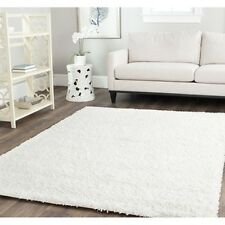 Safavieh Solid White Contemporary Plush High-density Shag Area Rug