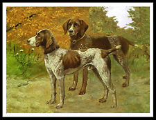 GERMAN SHORTHAIRED POINTER DOGS GREAT VINTAGE STYLE DOG PRINT POSTER