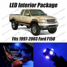 10 pcs LED Blue Lights Interior Package Kit For Ford F150 1997-2003