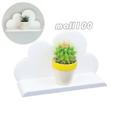 Wooden white cloud shelf decorative hang on the wall plants toys sundries photos
