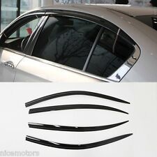 Smoke Door Plastic Visor 4Pcs 1Set (Fit: Honda Accord 2012 2013 2014 2015 +)