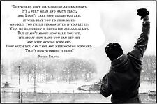 """Rocky Balboa FAMOUS MOVIE QUOTE Wall Art Large Canvas Picture 20""""x30"""""""