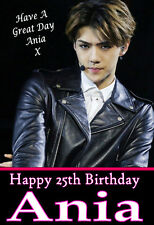 SEHUN EXO KPOP, A5 Personalised Birthday Card Any Name / Age, l@@k FABULOUS!!! 2