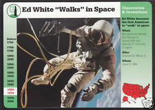 ED WHITE WALKS IN SPACE NASA Photo Astronaut Bio GROLIER STORY OF AMERICA CARD