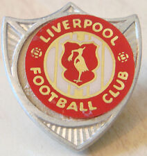 LIVERPOOL Vintage 1970s 80s insert type badge Brooch pin In chrome 30mm x 33mm