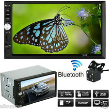 Car Stereo Double 2 Din MP5 MP3 Player Radio Bluetooth USB AUX W/ Parking Camera