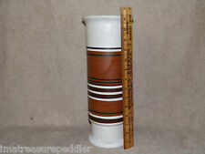 Lapid Pottery Vintage Mid Century Modern Israel HP by Esther Tall Cylinder Vase