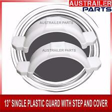 "2 X  13"" WHITE SINGLE PLASTIC GUARD WITH STEPS AND COVER"