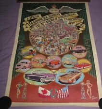 20th INTERNATIONAL AUTO CAR SHOW  1980 POSTER BATMOBILE RED BARON REVELL ROTH ++