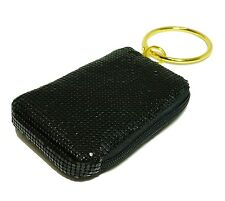 Mollaspace Tsubota Pearl Bling Bangle Pouch BLACK top zip for Phone,MP3, wallet
