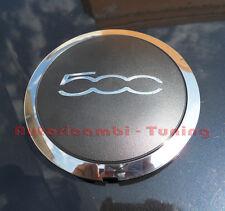 COPRIMOZZO COPPA CALOTTA CENTRALE FIAT 500 DAL 2007 IN POI NERO/CROMO 24.059