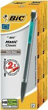 12 PACK BiC MATIC AUTOPENCIL WITH 3 x HB 0.7mm LEAD (ASSORTED CLIP COLOURS)